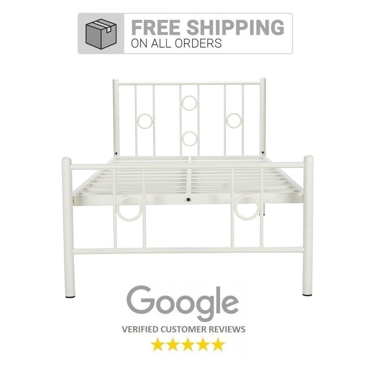 Roadster Single Size Metal Bed White Price In India Buy Roadster Single Size Metal Bed White Online Vyom Design