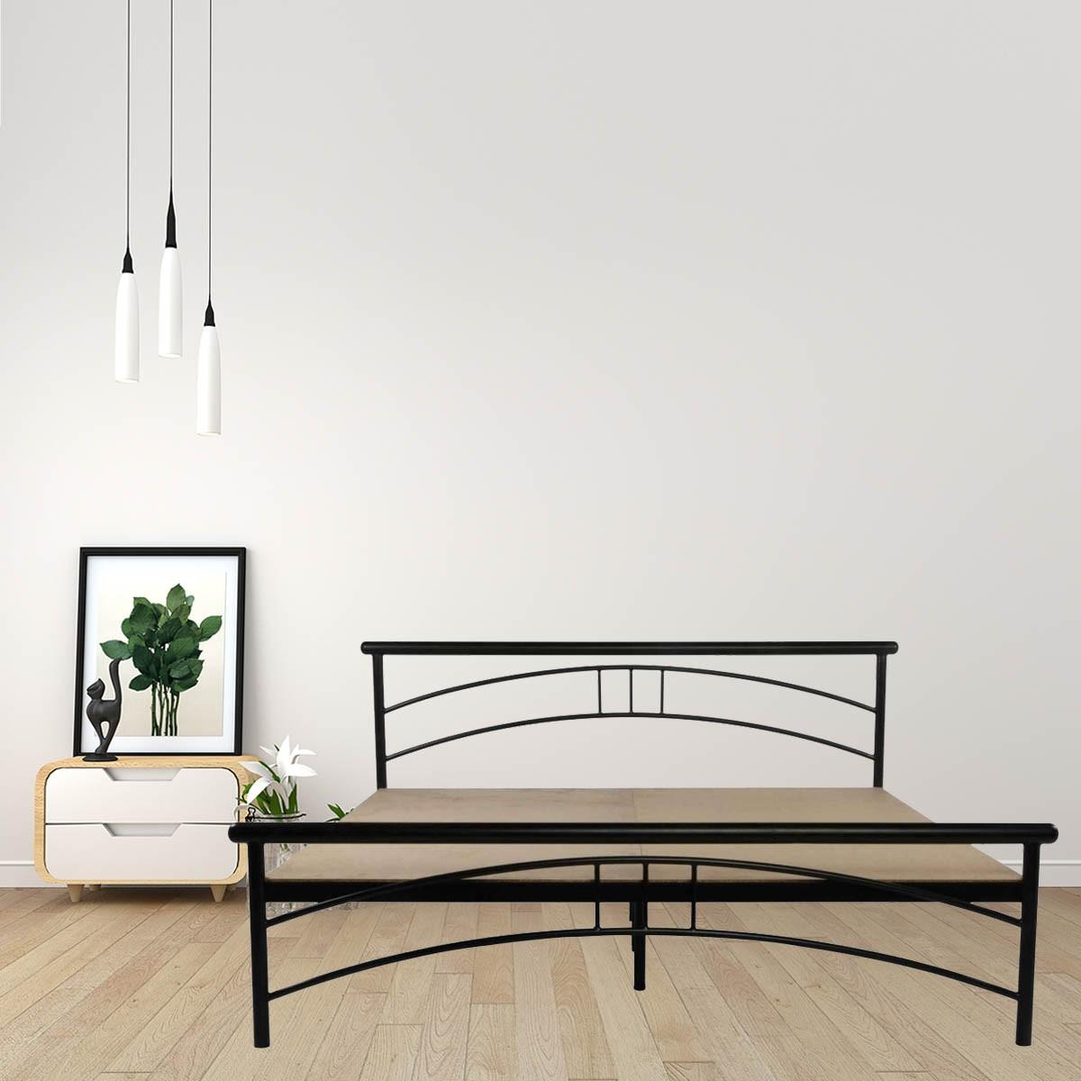 Image of: Tweak Queen Size Metal Bed Price In India Buy Tweak Queen Size Metal Bed Online Vyom Design
