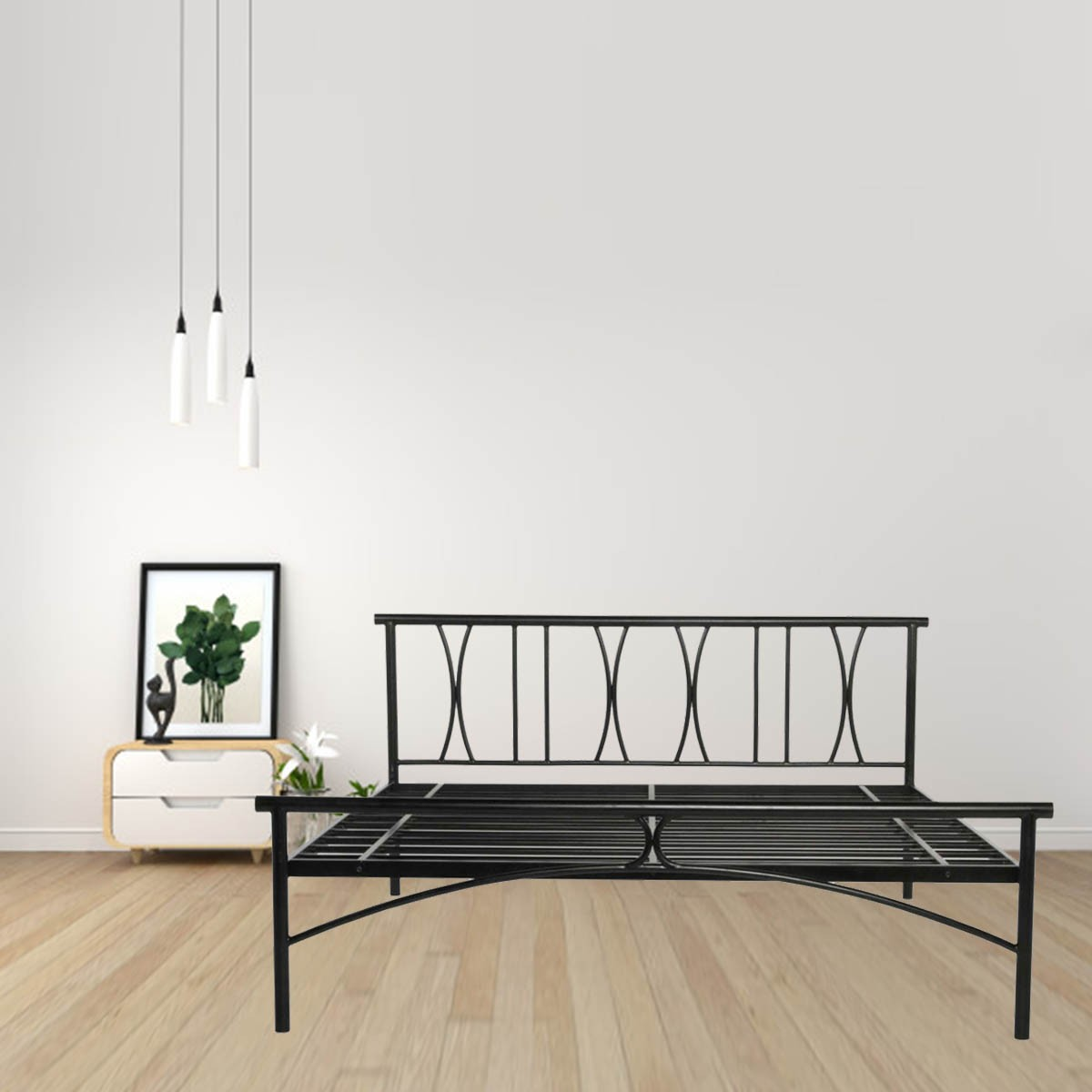 Picture of: X Queen Size Metal Bed Price In India Buy X Queen Size Metal Bed Online Vyom Design