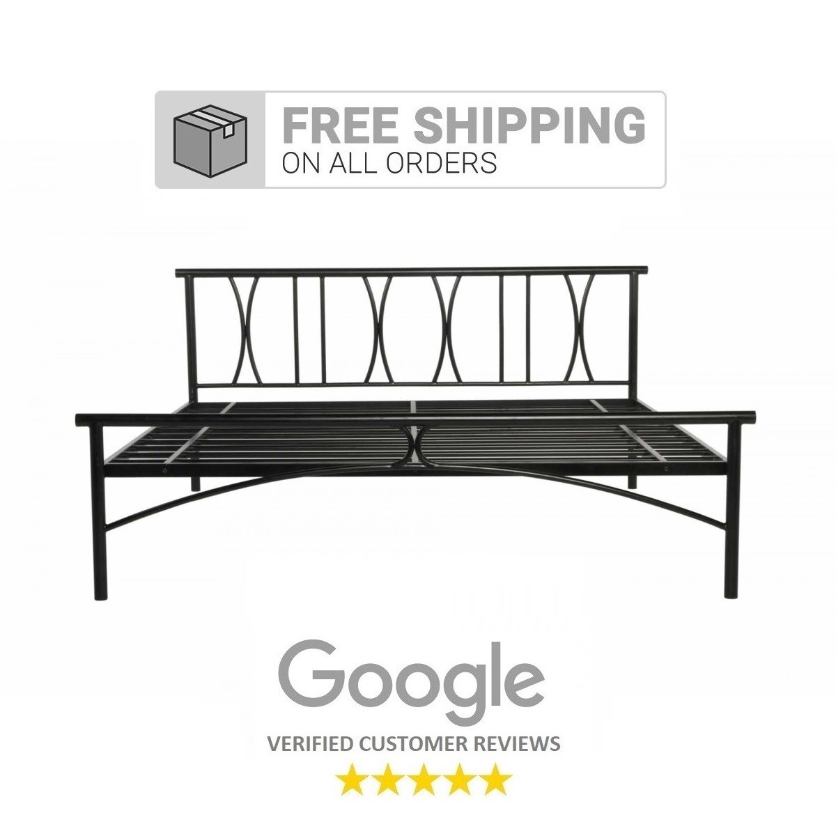Image of: X Queen Size Metal Bed Price In India Buy X Queen Size Metal Bed Online Vyom Design
