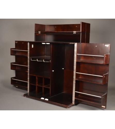 Esha Bar Cabinet - Walnut