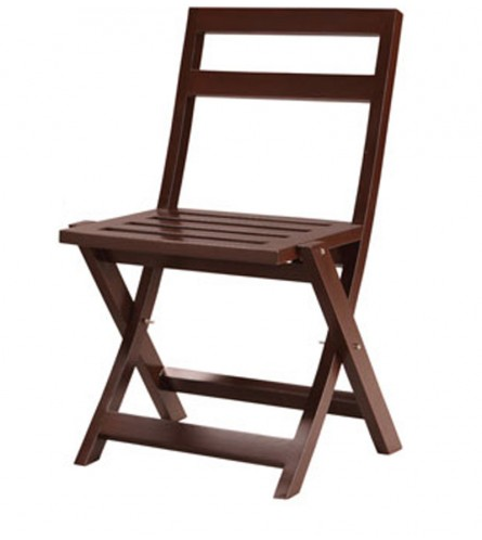 Folding Chair - Beech w Walnut Finish