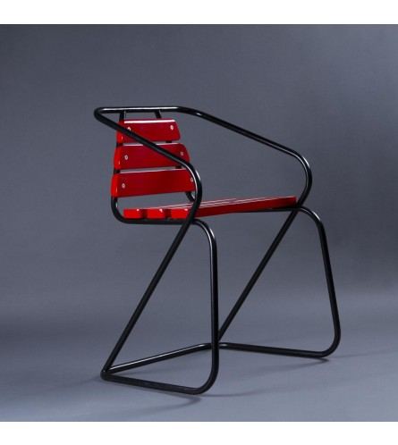 Flamingo Metal / MDF Chair - Seat & Backrest In MDF With Metal Frame Legs