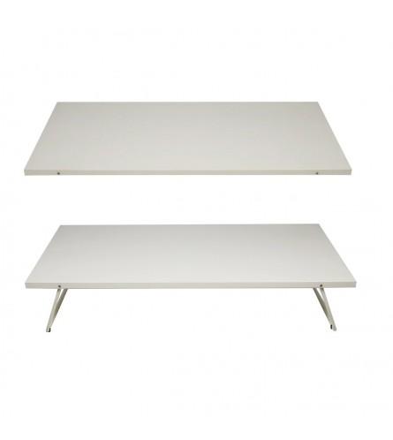 Bedrock | Foldable Single Size Bed Powder Coated - White
