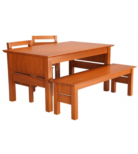 Saul Dining Set - Rubberwood