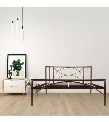 Mystic | King Size Metal Bed Powder Coated - Brown
