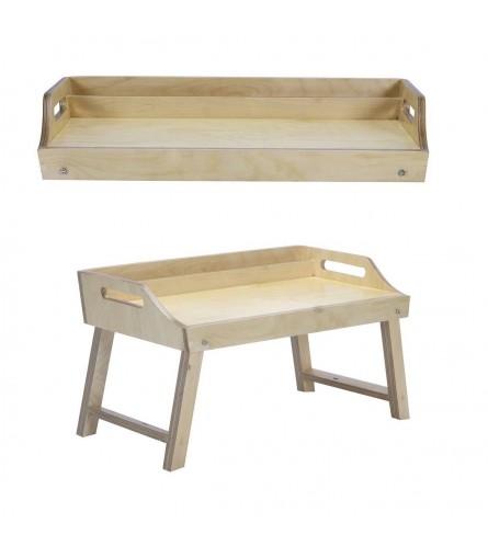 Miz Moppet Laptop / Bed & Breakfast Table With Foldable Legs