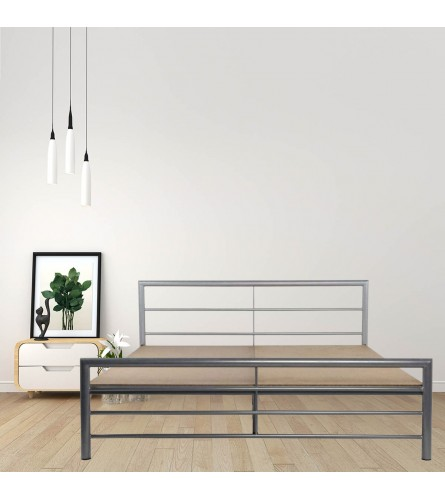 Linear Queen Size Metal Bed