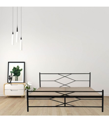 Maze King Size Metal Bed