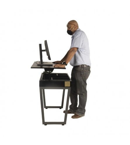 Mr Raven Height Adjustable Computer Table - Small