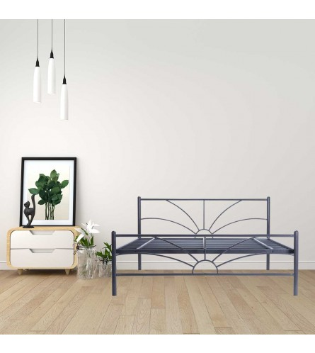 Sun | Queen Size Metal Bed Powder Coated - Graphite Grey