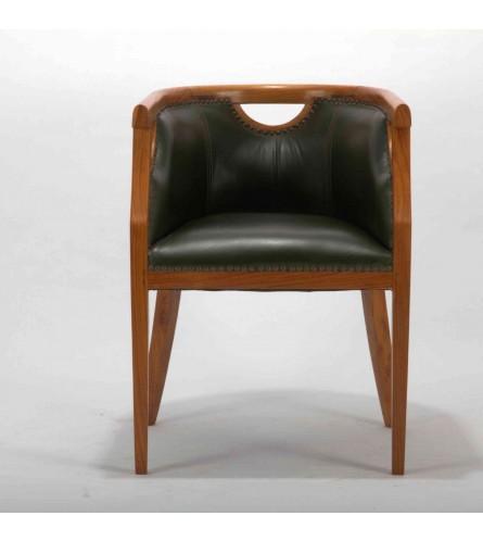Regal Chair - White Oak Leather
