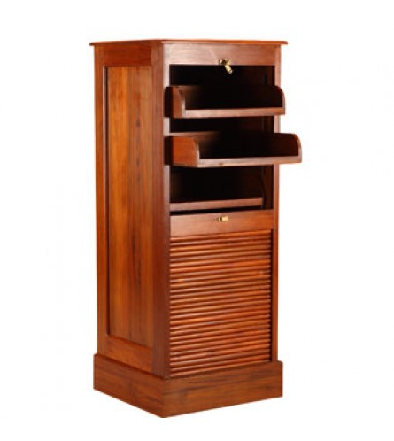 Roll Up Cabinet - Teak Wood