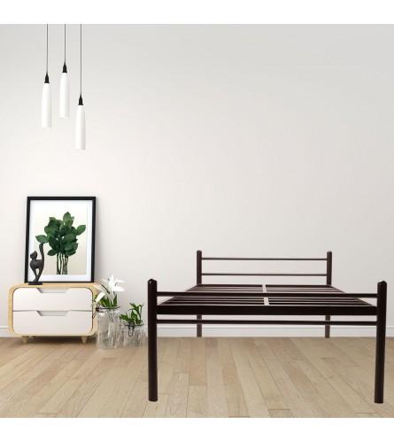 Basics | Single Size Metal Bed Powder Coated - Brown