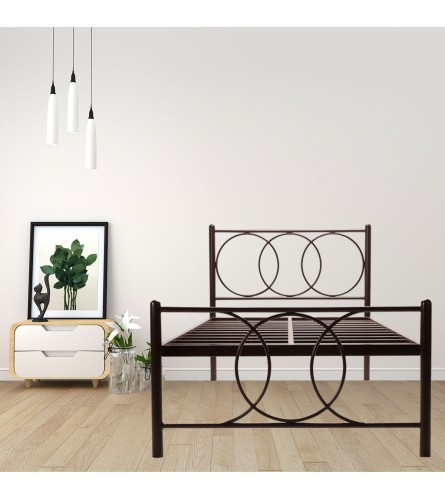 Union | Single Size Metal Bed Powder Coated - Brown