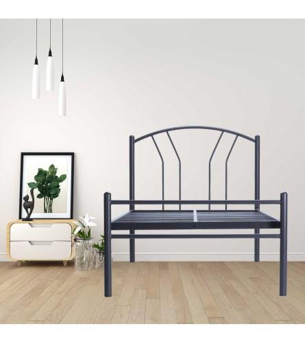 Lane | Single Size Metal Bed Powder Coated - Graphite Grey
