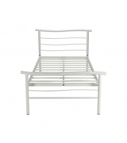 Wave | Single Size Metal Bed Powder Coated - White