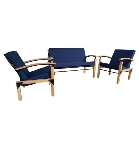 Sleek Sofa Set - Dark Blue