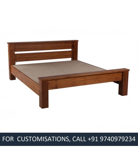 Beyonce Queen Size Teak Wood Bed