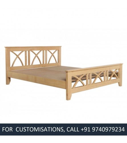 Vadz Queen Size Sycamore Wood Bed