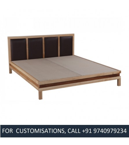 Vedavathi King Size Sycamore Wood Bed