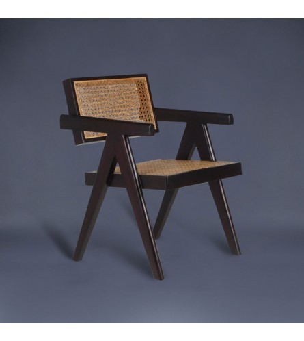 Chandigarh Wood / Cane Chair - Replica