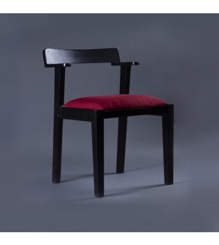 Ferguson Wood Chair - Fabric Upholstered Seat & Solid Wood Frame Legs