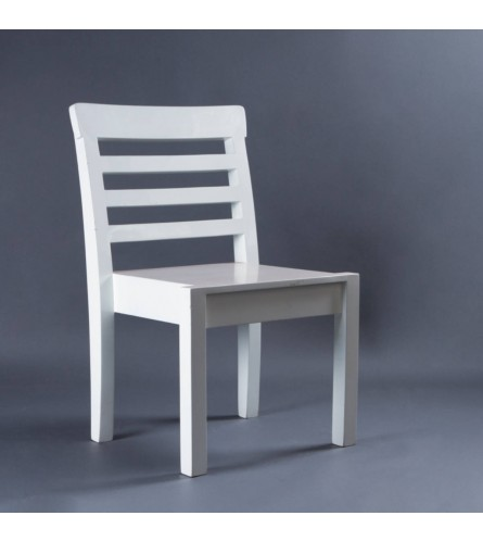 Mattel Wood Chair - Seat, Backrest & Frame / Legs In Solid Wood
