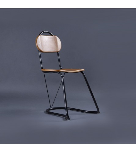 U-Nest Wood / Metal Chair - Solid Wood Seat & Backrest With Metal Frame Legs