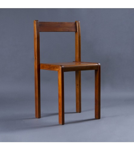 Study Wood Chair - Seat, Backrest & Frame / Legs In Solid Wood