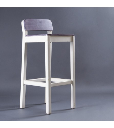 Sven Bar Stool - White / Grey