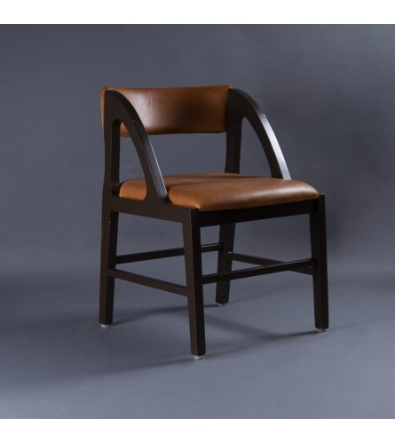 Take 5 Wood Chair - Leather Upholstered Seat & Backrest With Solid Wood Frame Legs