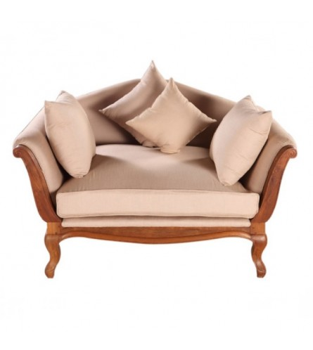 King George Teak Wood Couch