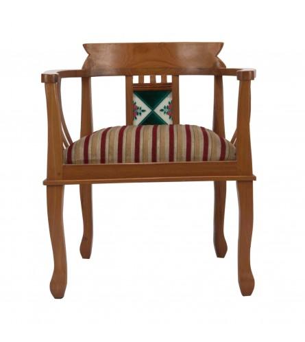 Tile Single Seater Sofa (Chettinad Style Solid Teak Wood)