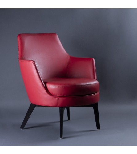 Asprey Wood Chair - Leatherette Upholstered Seat & Backrest With Solid Wood Frame Legs