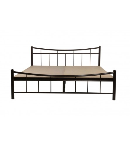Ellipse | Queen Size Metal Bed With 12mm Plywood Powder Coated - Black