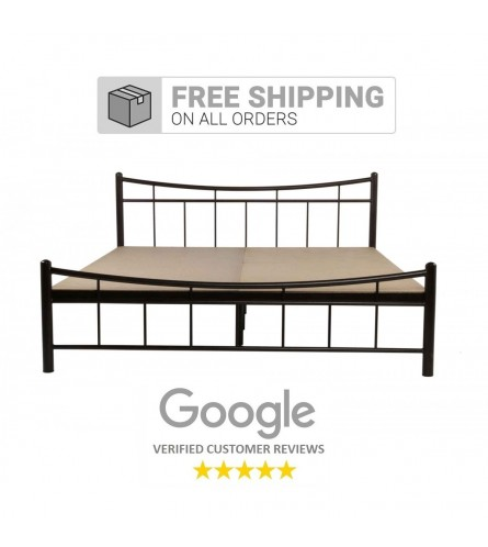 Ellipse Metal Queen Size Bed With 15mm Particle Board