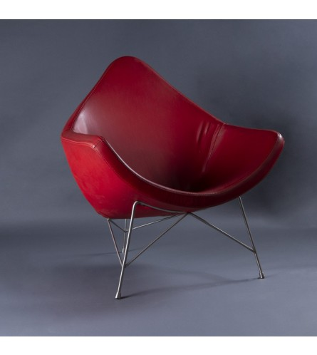 Unicorn Metal Chair - Leatherette Upholstered Seat & Backrest With Metal Frame Legs