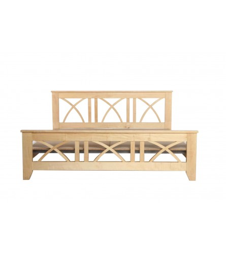 Vadz King Size Sycamore Wood Bed