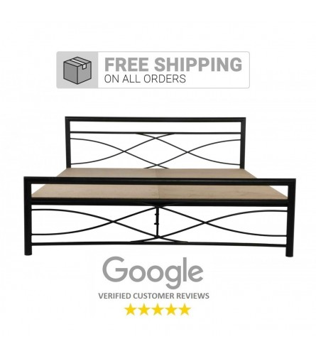 Wiry King Size Metal Bed