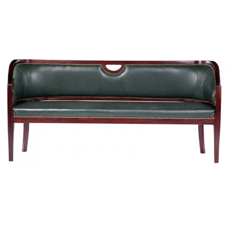 Classic Leather Three Seater Sofa