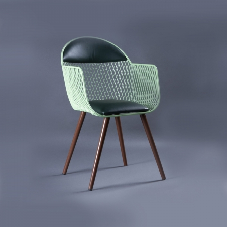Sheryl Metal Chair - Leatherette Upholstered Seat & Backrest With Metal Frame Legs