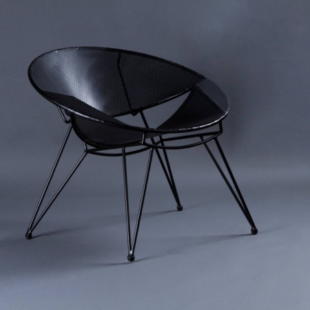 Perfo Metal Chair - Seat, Backrest & Frame / Legs In Metal