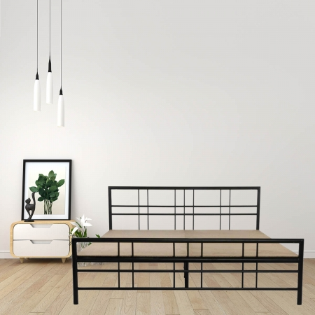 Adelle King Size Metal Bed With 15mm Particle Board