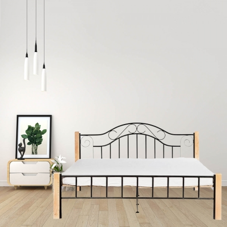 Cinq Metal Queen Size Bed With 15mm Particle Board