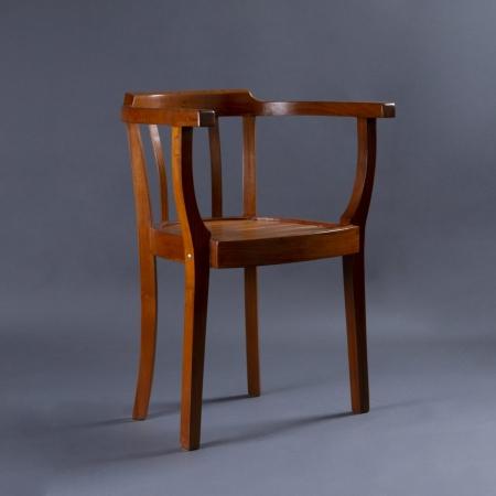 Slotted Wood Chair - Seat, Backrest & Frame / Legs In Teak Wood