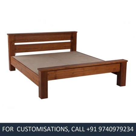 Beyonce King Size Teak Wood Bed