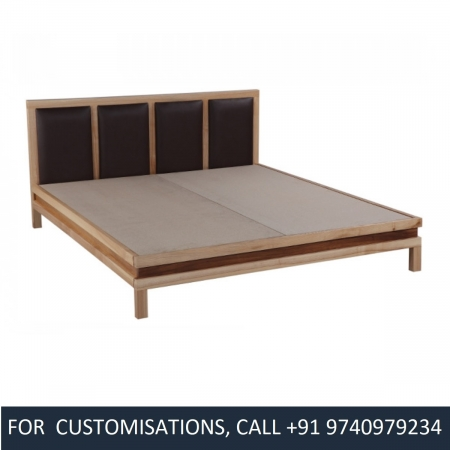 Vedavathi Queen Size Sycamore Wood Bed