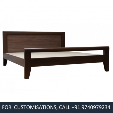 York Queen Size Beach Wood Bed - Teak Finish