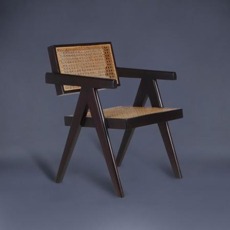Chandigarh Wood / Cane Chair - Replica